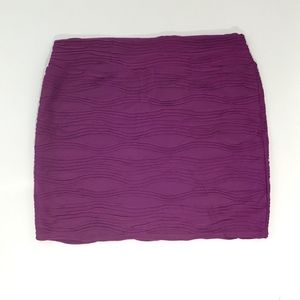Cotton On Purple Wave Tube Pull On Skirt Size XL